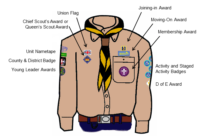 how to wear rsl badge